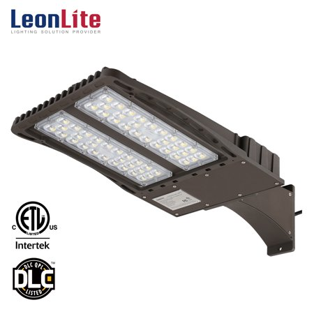 - LEONLITE 18000lm Outdoor LED Area Lighting Fixture, Parking Lot Light, 150W, Arm Mount