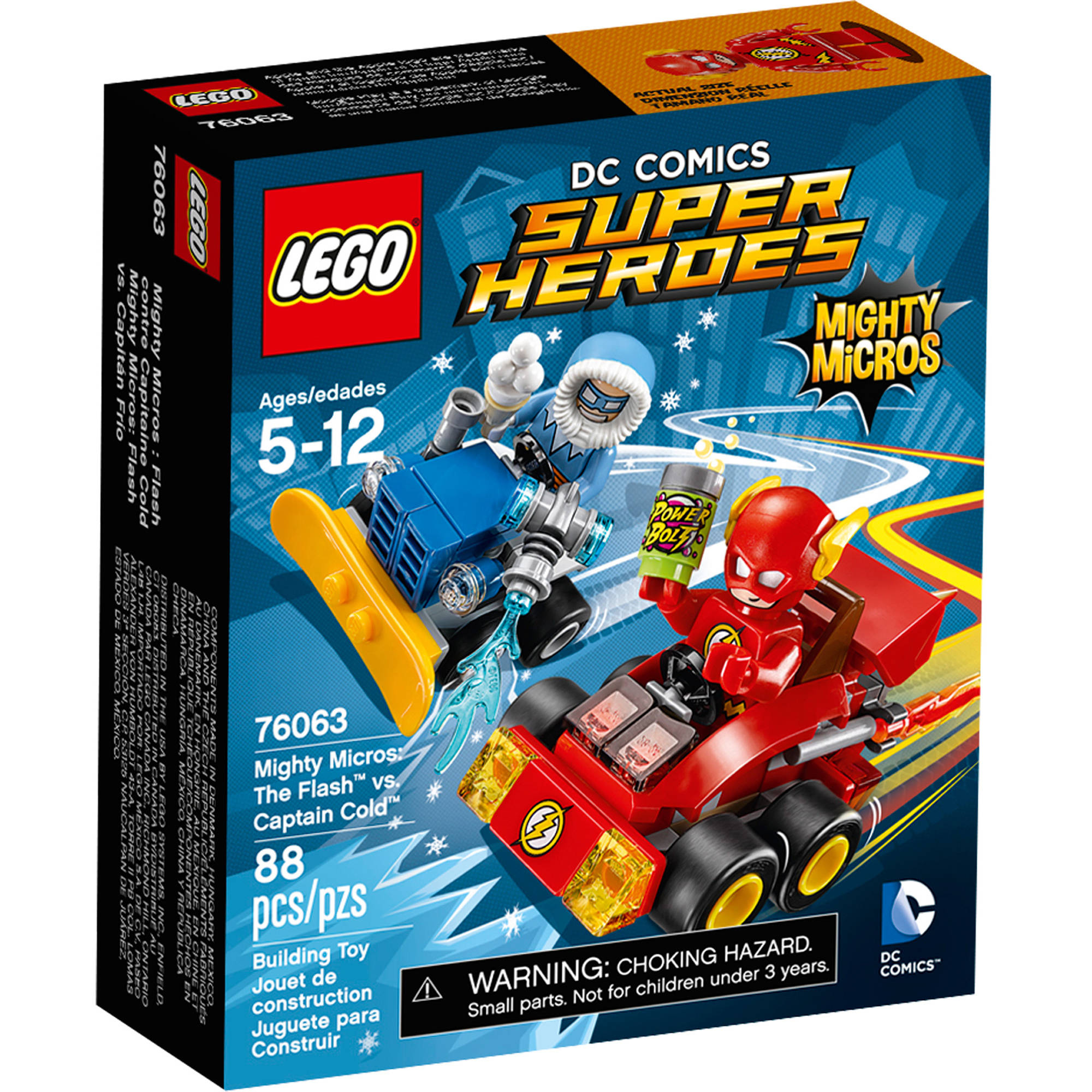 LEGO Super Heroes Mighty Micros: The Flash Vs. Captain Co 76063    Walmart.com