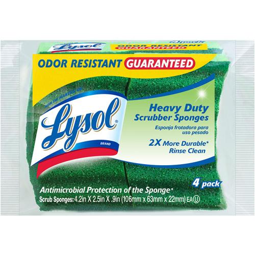 Lysol Heavy Duty Scrubber Sponges, 4pk