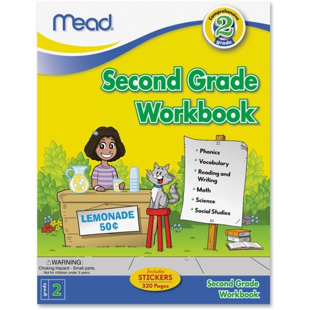 Mead Second Grade Comprehensive Workbook Education Printed Book - Book - 320 Pages (mea-48220)