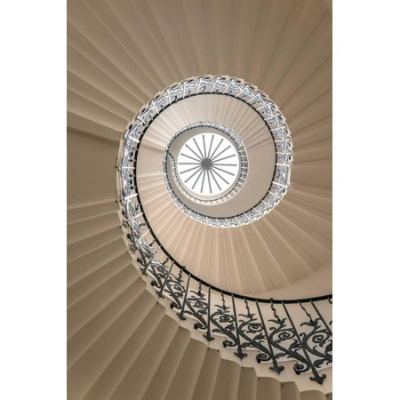 - Tulip Stairs - Upside View of a Spiral Staircase Print Wall Art By BBA Travel