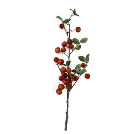 Simulation Small Apple Branch Artificial Red Berry Flower Arrangement Shooting Props Home Wedding Party Decoration