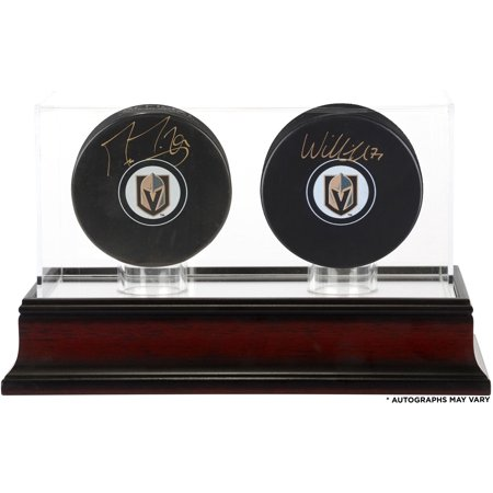 aae73b19e Marc-Andre Fleury and William Karlsson Vegas Golden Knights Autographed  Hockey Pucks with Mahogany Two-Puck Case - Fanatics Authentic Certified