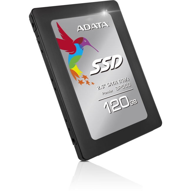 "Adata Premier SP550 120 GB 2.5"" Internal Solid State Drive - SATA - 560 MB/s Maximum Read Transfer Rate - 410 MB/s Maxim"