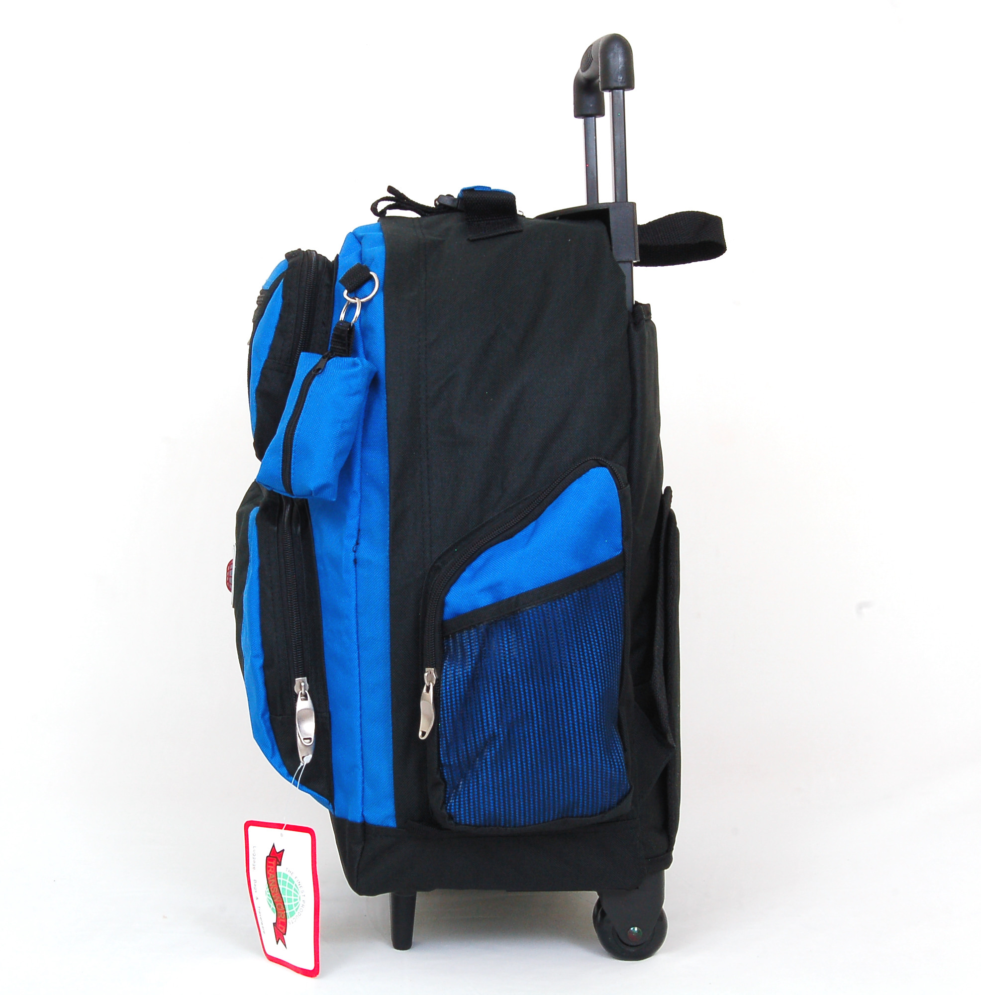18 wheeled backpack roomy rolling book bag w handle carry on