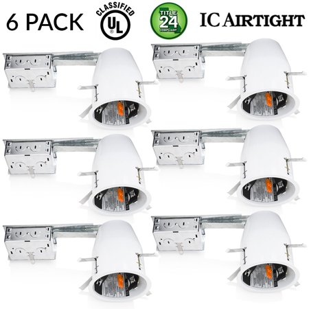 Sunco 6 pack of 4 inch remodel led can air tight ic housing led sunco 6 pack of 4 inch remodel led can air tight ic housing led recessed aloadofball Gallery