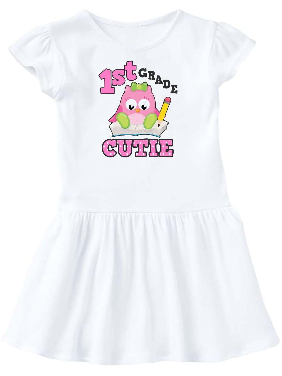 1st Grade Cutie with Owl Toddler Dress