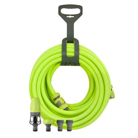 Legacy Flexzilla Garden Hose Kit w/ Quick Connect, Nozzle, & Hanger, 1/2