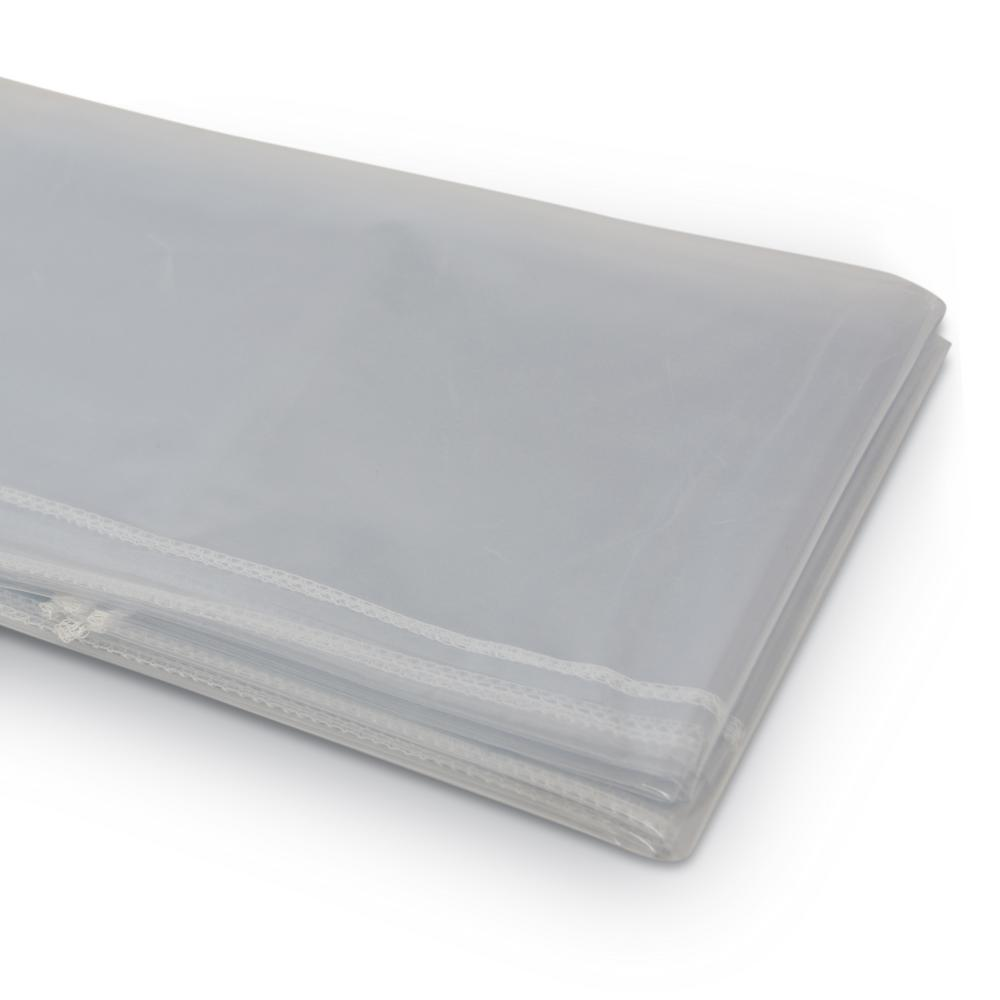 """Super Clear Table Cloth Cover Protects Fabrics 54/""""x72/"""" Oval Heavyweight /& Durabl"""