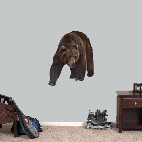 Sweetums Real Life Grizzly Bear Printed Wall Decal