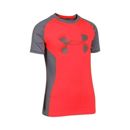 Under Armour UA HeatGear Armour Up Fitted Shirt YMD BOLT ORANGE