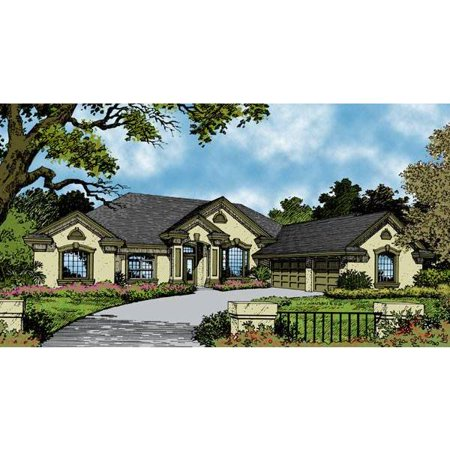 Thehousedesigners 4093 Contemporary House Plan With Slab Foundation  5 Printed Sets