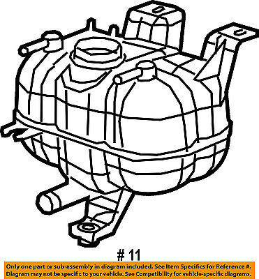 Chrysler Oem Radiator Coolant Overflow Expansion Reservoir Tank