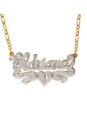 script chains plate necklace plated jewelry gold custom name thin nameplate