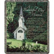Manual Woodworkers & Weavers A Beautiful Day in Heaven Tapestry Cotton Throw
