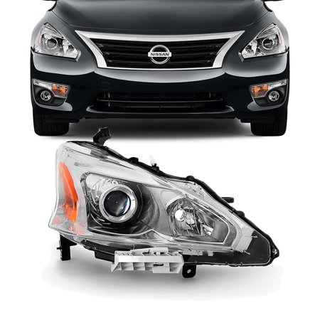 - Fits 2013-2015 Altima 4DR Sedan Passenger Side Projector Headlights Replacement