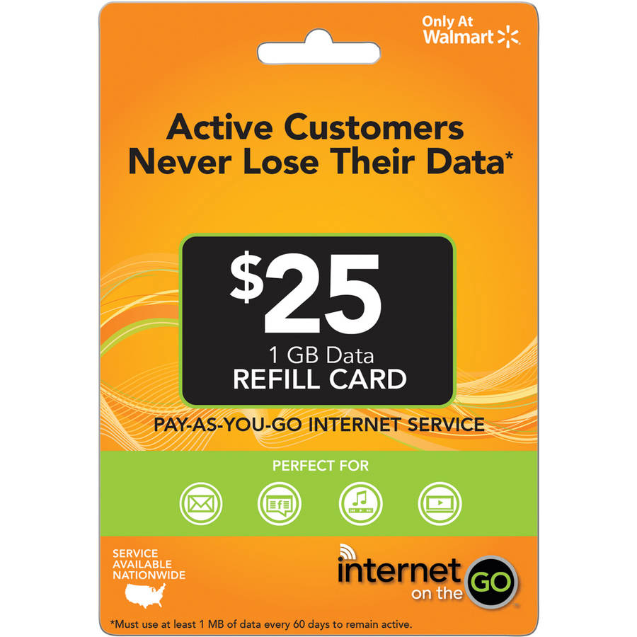Internet on the Go $25 (Email Delivery)