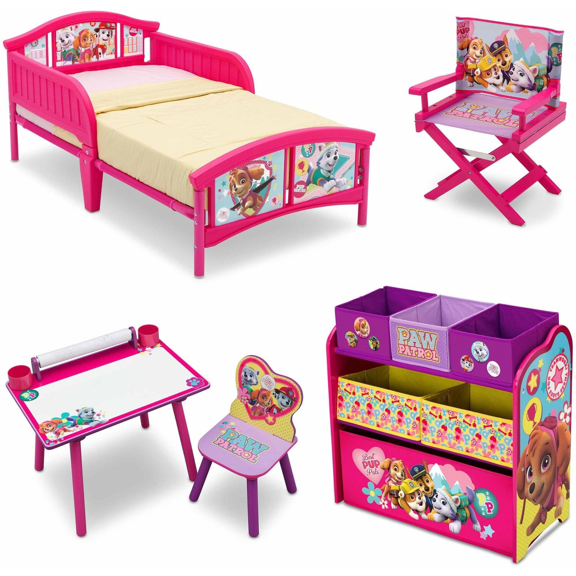 Nick Jr. PAW Patrol Skye and Everest Room-in-a-Box with Bonus Chair