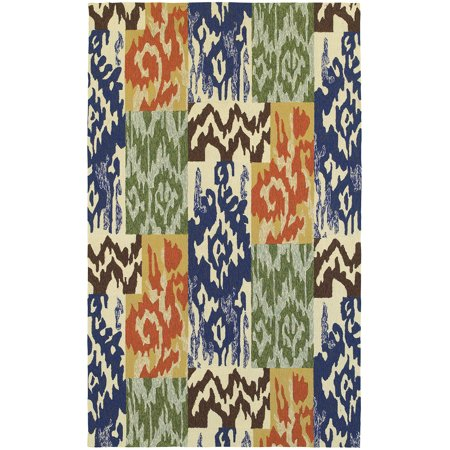Tommy Bahama Atrium Area Rug 51100 Blue Swirls Outdoor ()