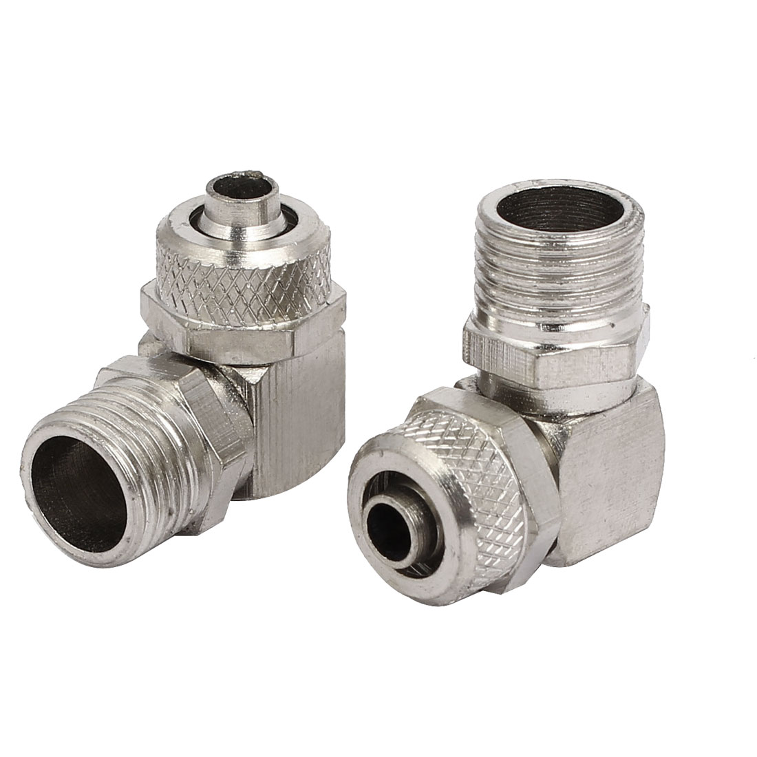 1/4BSP Male Thread L Shaped Pneumatic Air Quick Connecting Coupler 5pcs - image 2 of 4