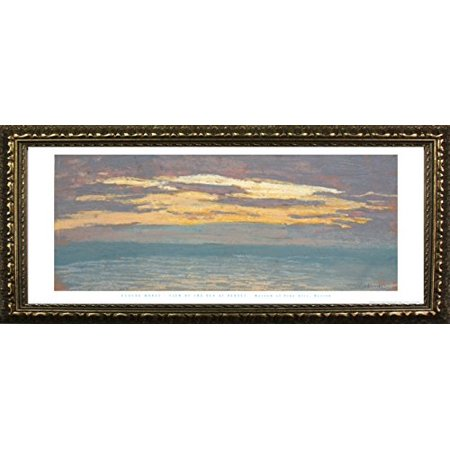 buyartforless framed view of the sea at sunset by claude monet 12x36