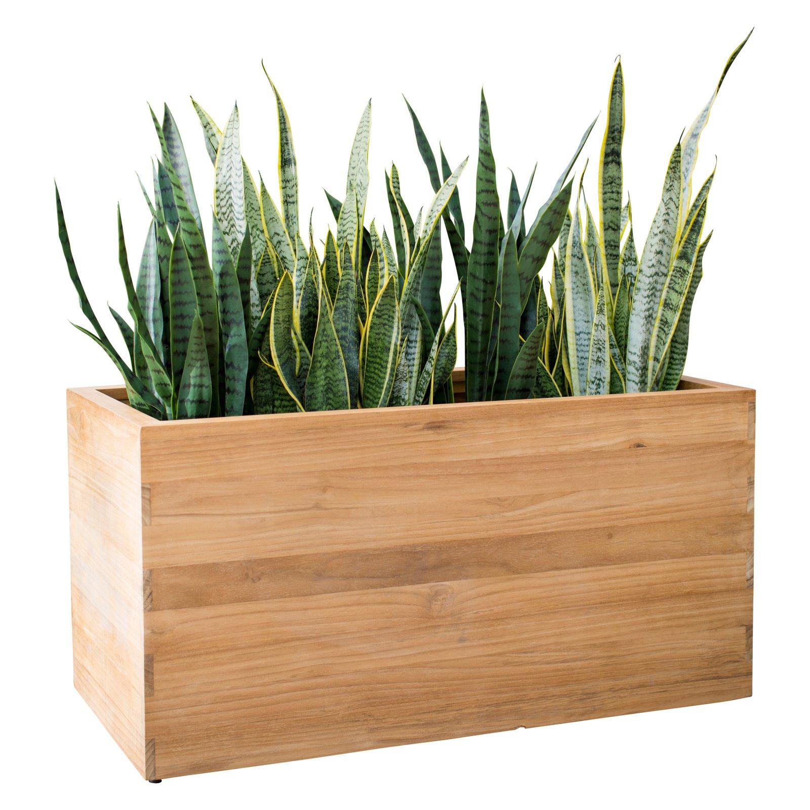 MoDRN Teak Wood Rectangular Planter
