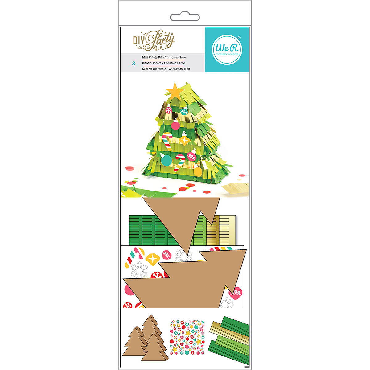 We R DIY Party Mini Pinata 3/Pkg-Tree