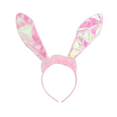 Halloween Costume Supplies Pink Plush Rabbit Ear Headband for](Halloween Eats)