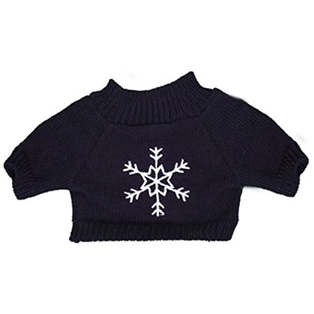 (Navy Snowflake Sweater Teddy Bear Clothes Outfit Fits Most 8