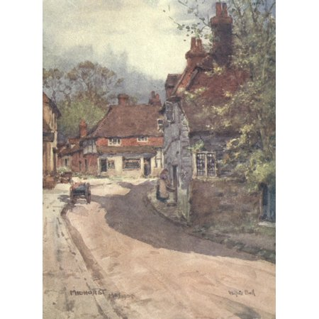 Sussex 1906 Midhurst Knock Hundred Row Poster Print By  Wilfrid Ball