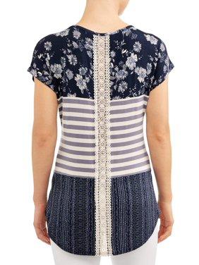 2c73fcff8 Product Image Women's Colorblock Short Sleeve T-Shirt