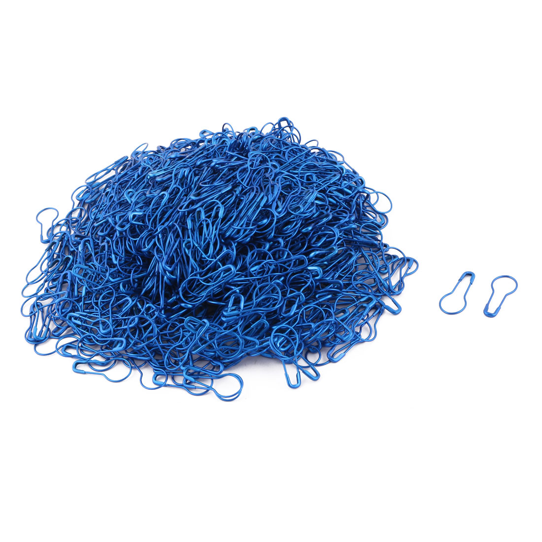 Home Fastening Blankets Skirt Safety Pins Brooches Blue 2.2cm Length 800 Pcs