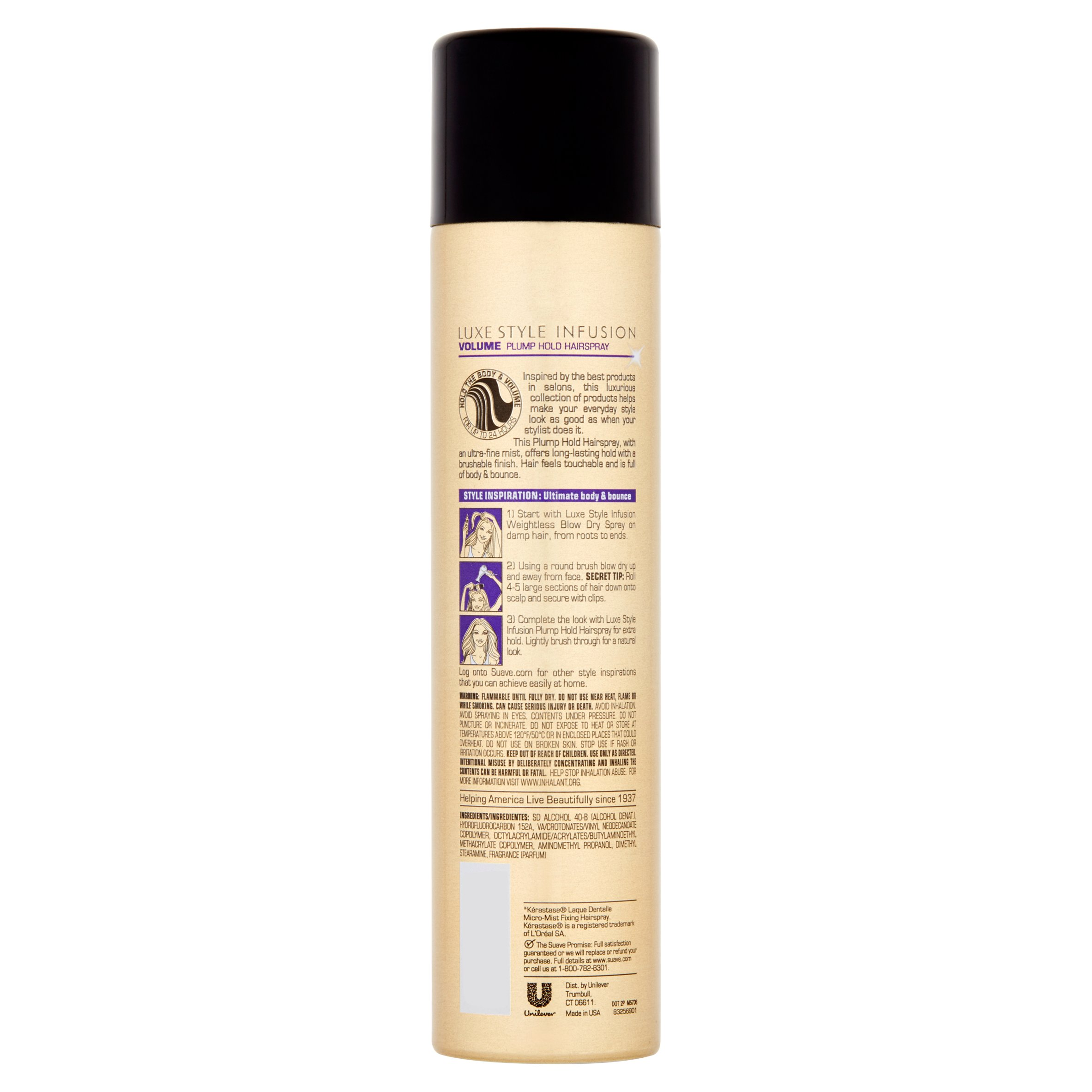 Suave Professionals Luxe Styling Plump Hold Hairspray, 8.5 Oz   Walmart.com
