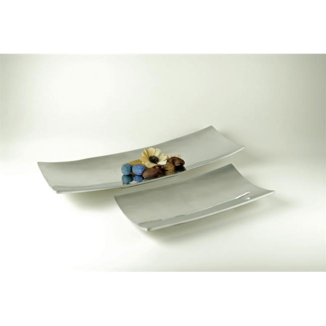 Modern Day Accents 8313 Alum Long Rect Trays - Set of 2