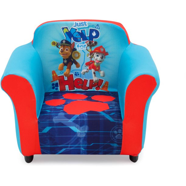 Nick Jr. PAW Patrol Kids Upholstered Chair with Sculpted Plastic