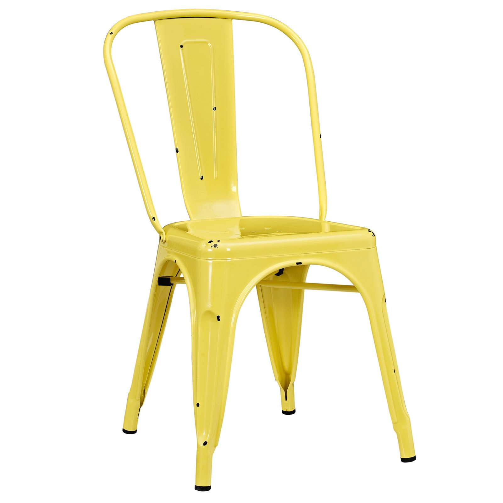 Walker Edison Stackable Metal Café Bistro Chair - Antique Black (Multiple Colors Available)