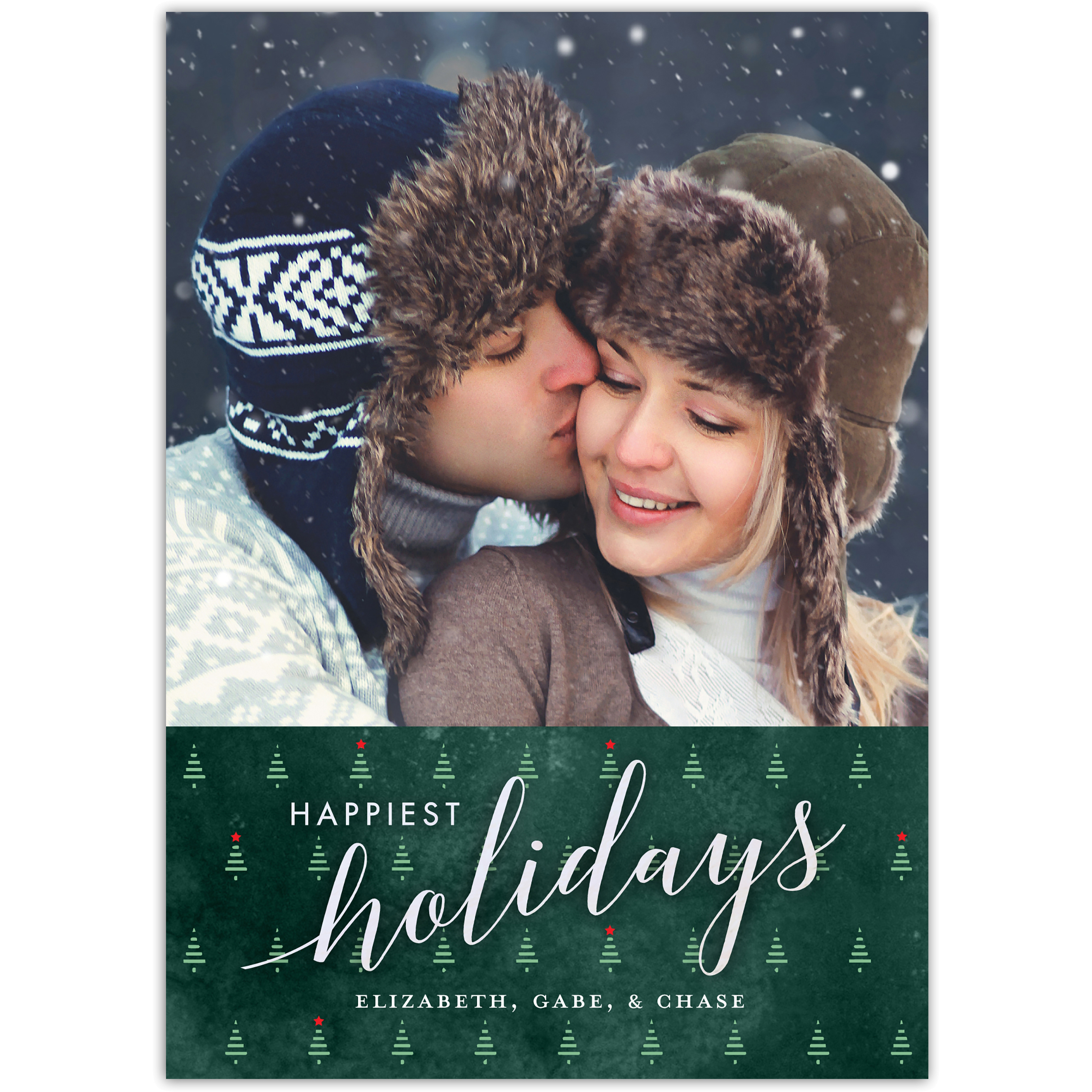 Happiest Holiday Trees - 5x7 Personalized Holiday Card