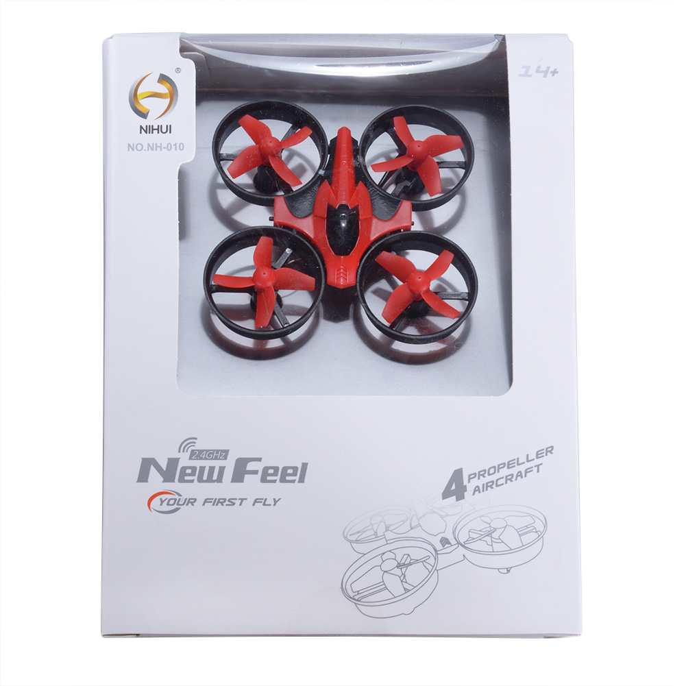 NIHUI NH010 Mini Drone 2.4G 6-Axis Gyro Headless Mode Remote Control Quadcopter (Red) - image 6 of 7