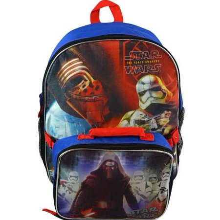 Backpack - Star Wars Ep7 - Stormtrooper & Kylo Ren w/ Lunch Bag STKIT