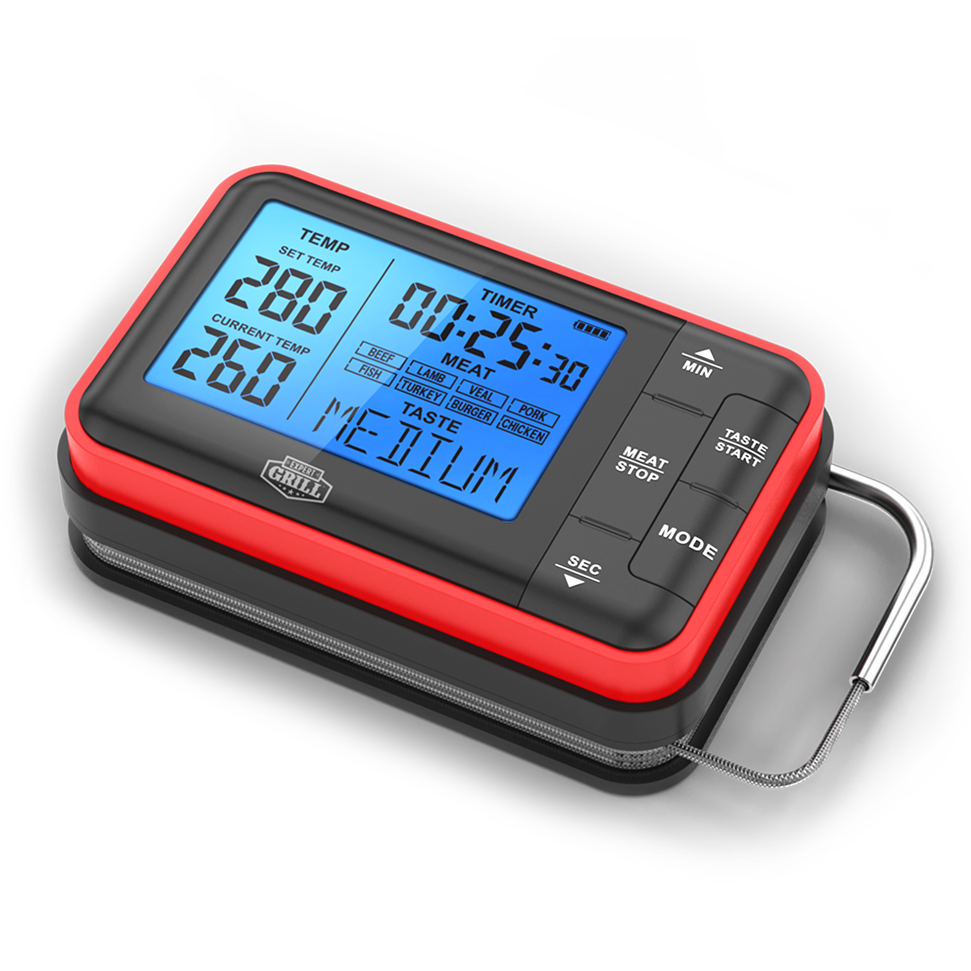 Expert Grill Wireless Digital BBQ Grilling Thermometer ...