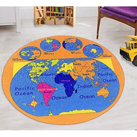 World Map Kids Educational play mat For School/Classroom / Kids Room ...