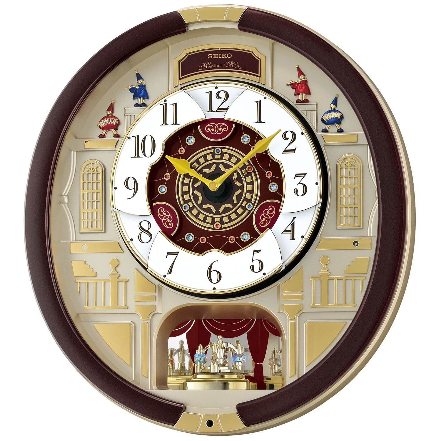 Seiko wall clock with swarovski seiko 24 melodies in motion musical wall clock with swarovski amipublicfo Images