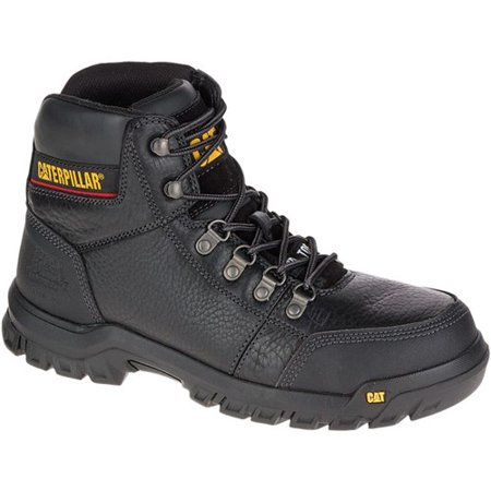 """CAT Footwear Outline Steel Toe - Black 8.0(M) Work Boot"""