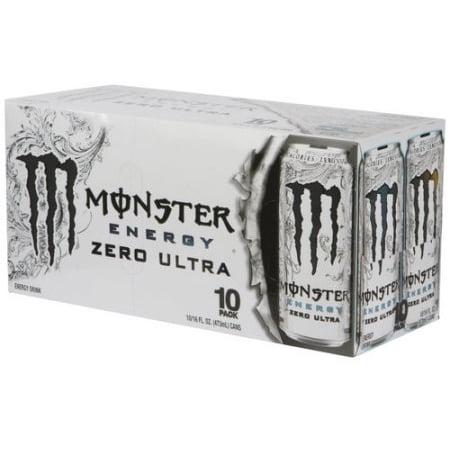 Monster Zero Ultra Energy Drink  16 Fl Oz  10 Pack