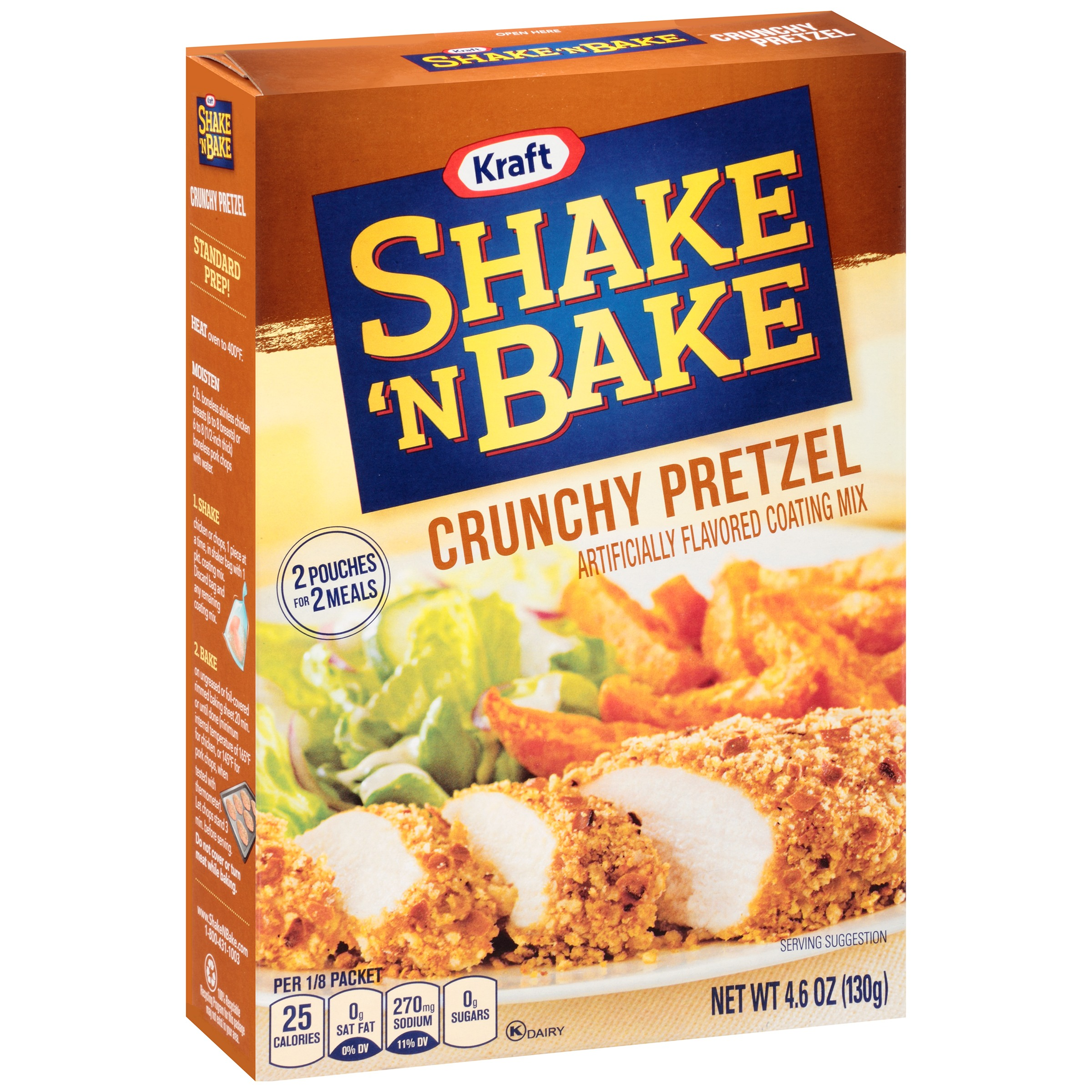 Kraft Shake 'n Bake Crunchy Pretzel Coating Mix, 4.6 oz