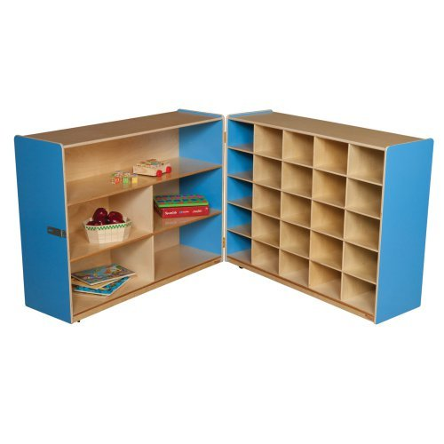 Wood Designs Tray and Shelf Fold Storage without Trays