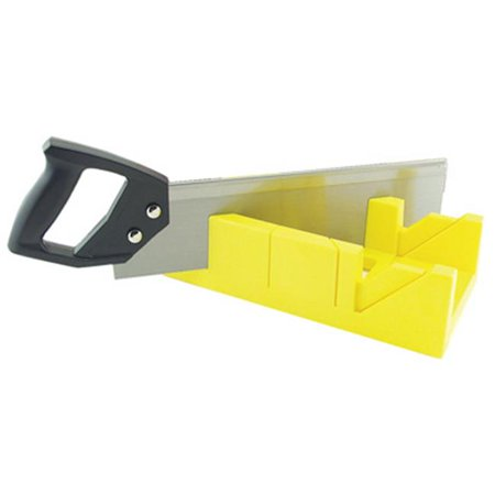 Master Mechanic 14 in. Plastic Miter Box with 12 in. Back Saw Kit
