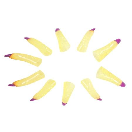 10x Fancy Dress Purple Nail Luminous Halloween Fingernails Trcik Props - Unusual Fancy Dress Ideas For Halloween