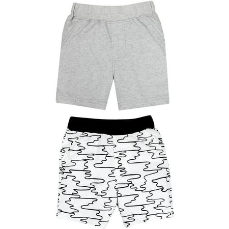 100% Organic Cotton Knit Shorts 2-pack (Baby Boys)