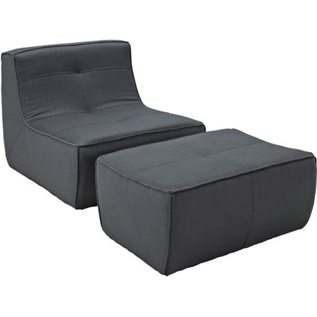 Modway Align 2 Piece Upholstered Armchair And Ottoman Set Multiple Colors